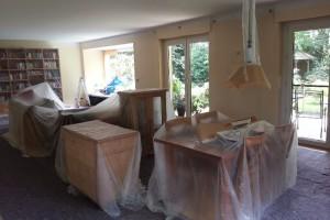 Die Decken und Wandflächen können jetzt vom Maler gestrichen werden