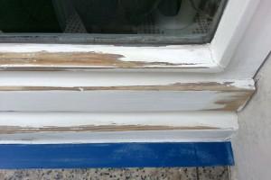 Holzfenster Vorarbeiten