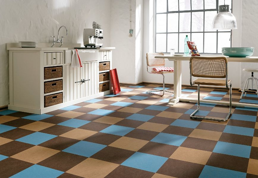 linoleumboden und korkboden. Black Bedroom Furniture Sets. Home Design Ideas